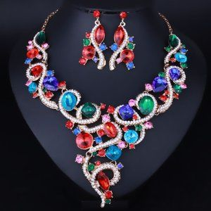 NS3    Evening Jewelry Prom Wedding Set